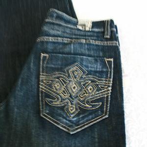 Avirex Straight Leg Jeans Men's 32/30 Dark Wash